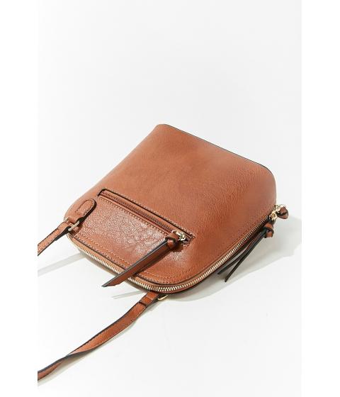 Genti Femei Forever21 Faux Leather Crossbody Bag BROWN