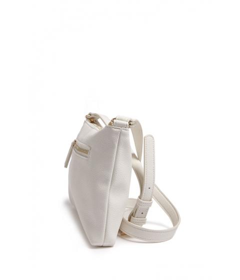 Genti Femei Forever21 Pebbled Crossbody Bag CREAM