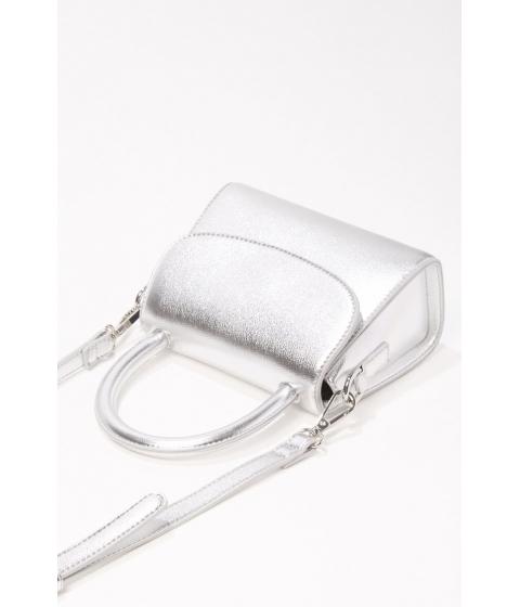 Genti Femei Forever21 Mini Metallic Crossbody Bag SILVER