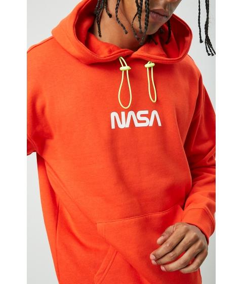 Imbracaminte Barbati Forever21 NASA Graphic Drawstring Hoodie ORANGEMULTI