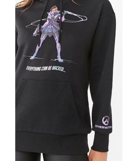Imbracaminte Femei Forever21 Fleece Overwatch Graphic Hoodie BLACKMULTI