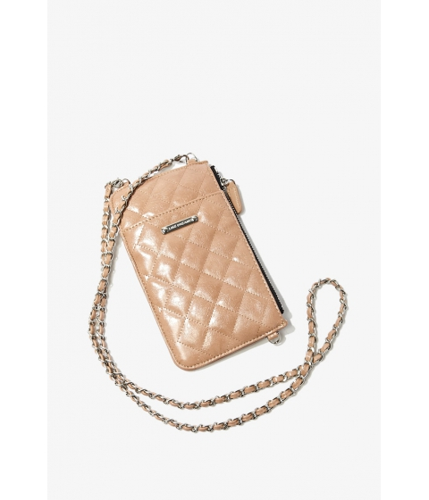 Genti Femei Forever21 Quilted Crossbody Bag NUDE