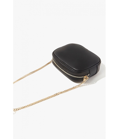 Genti Femei Forever21 Faux Leather Crossbody Bag BLACK