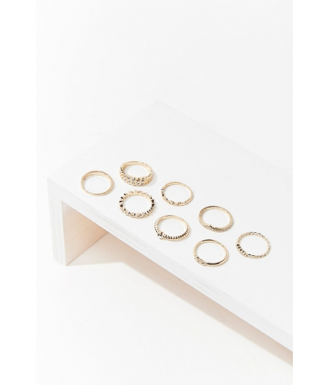 Bijuterii Femei Forever21 Assorted Ring Set GOLDCLEAR