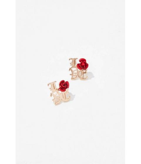 Bijuterii Femei Forever21 Love Stud Earrings GOLDRED