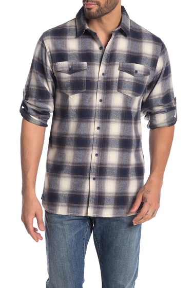 Imbracaminte Barbati Burnside Plaid Flannel Shirt ECRU BLUE