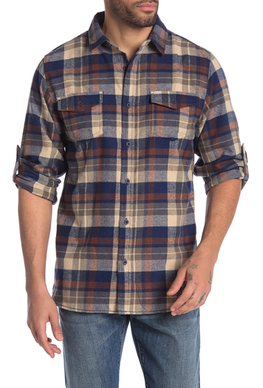 Imbracaminte Barbati Burnside Plaid Flannel Shirt BROWN