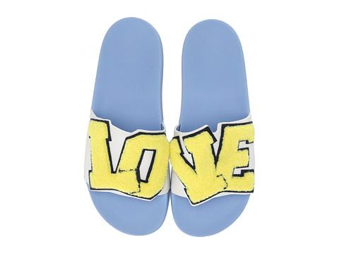Incaltaminte Femei Tory Burch Love Slide Snow WhiteCuber Yellow