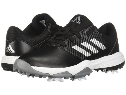 Incaltaminte Barbati adidas Golf Jr CP Spiked (Little KidBig Kid) Core BlackSilver MetallicFootwear White