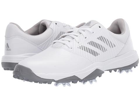 Incaltaminte Barbati adidas Golf Jr CP Spiked (Little KidBig Kid) Footwear WhiteSilver MetallicGrey Two
