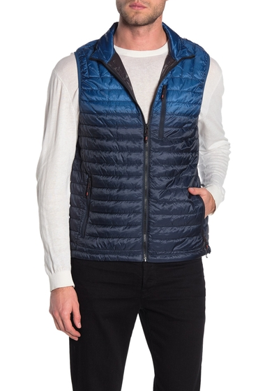 Imbracaminte Barbati Hawke Co Dot Printed Quilted Vest BLUE PRINT