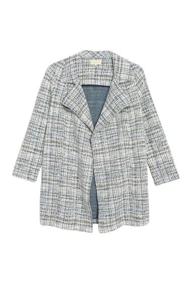 Imbracaminte Femei MELLODAY Tweed Trench Coat Petite BLUE MULTI