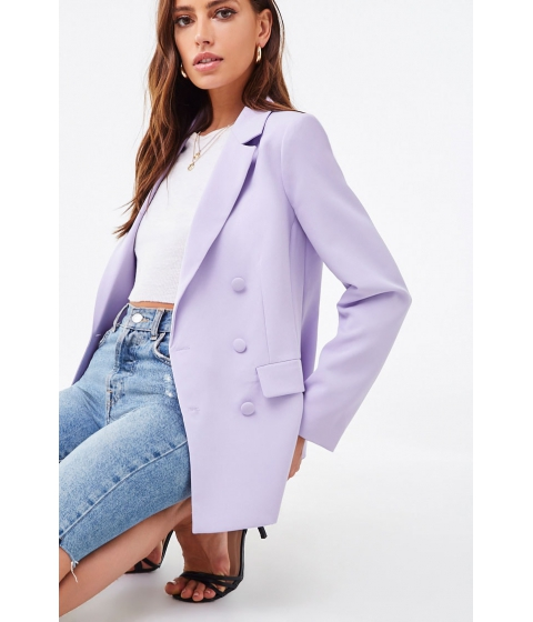 Imbracaminte Femei Forever21 Double-Breasted Single Vent Blazer LAVENDER
