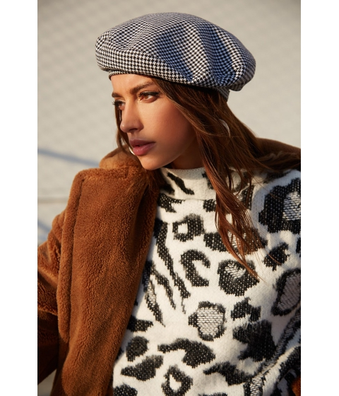Imbracaminte Femei Forever21 Fuzzy Leopard Print Sweater IVORYBLACK