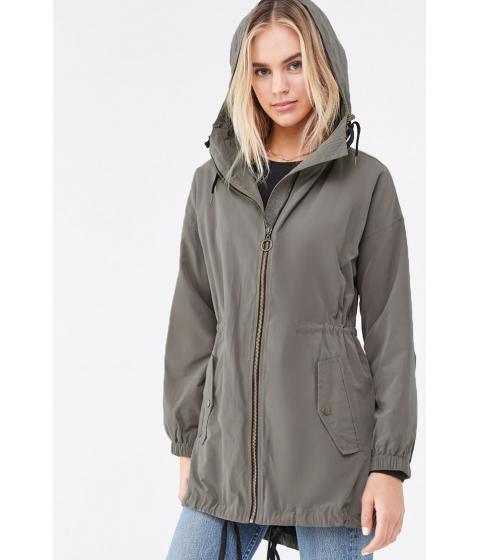 Imbracaminte Femei Forever21 Hooded Utility Jacket SAGE