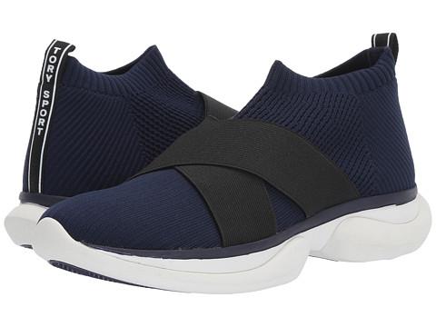 Incaltaminte Femei Tory Burch Bubble Elastic Knit Low Top Sneaker Sport NavyPerfect Black