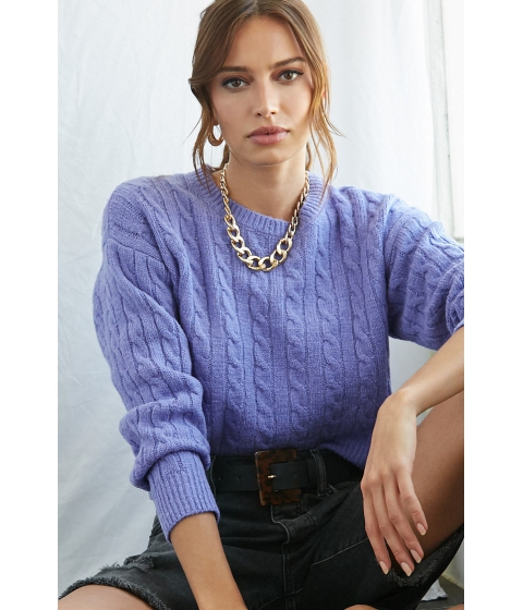 Imbracaminte Femei Forever21 Cable Knit Sweater PERIWINKLE