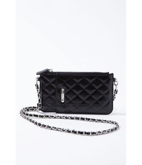Genti Femei Forever21 Quilted Crossbody Bag BLACK