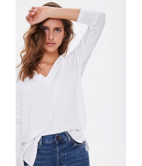 Imbracaminte Femei Forever21 Ribbed Step-Hem Top WHITE