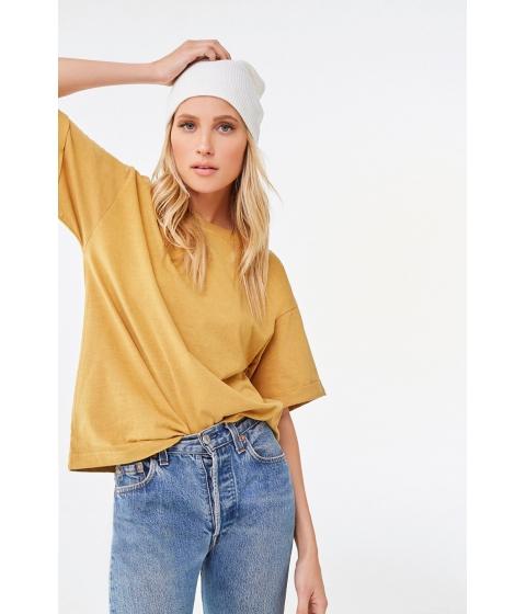 Imbracaminte Femei Forever21 Rolled Short Sleeve Tee GOLDEN HAZE