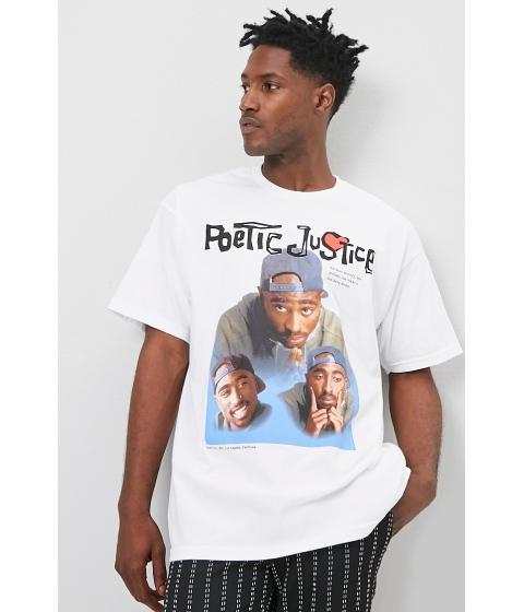 Imbracaminte Barbati Forever21 Tupac Poetic Justice Graphic Tee WHITEMULTI