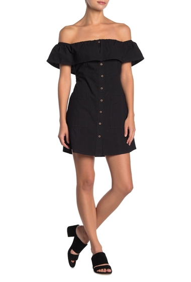 Imbracaminte Femei O'Neill Esmeralda Off-the-Shoulder Dress BLK