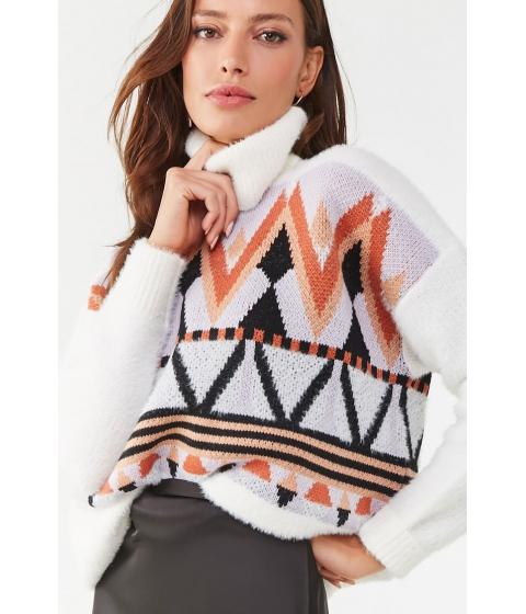 Imbracaminte Femei Forever21 Geo Print Sweater CREAMMULTI
