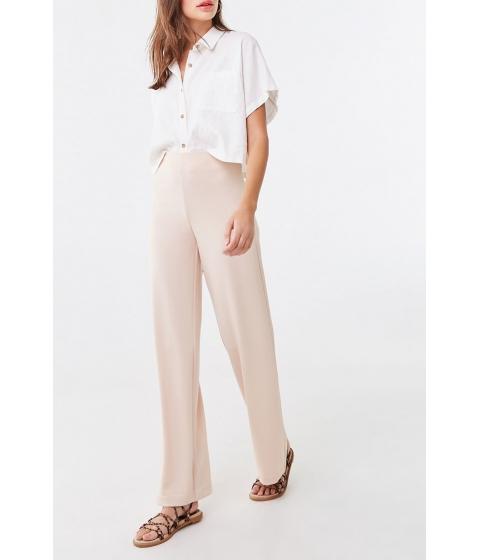 Imbracaminte Femei Forever21 High-Rise Wide Leg Pants NUDE