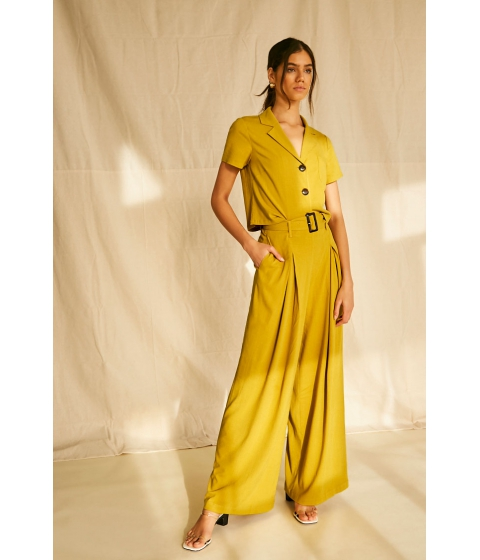 Imbracaminte Femei Forever21 Belted High-Rise Pants MUSTARD