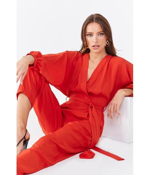 Imbracaminte Femei Forever21 Dolman Sleeve Surplice Jumpsuit RUST