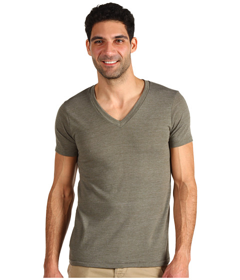 Imbracaminte Barbati Alternative Apparel Boss V-Neck Tee Eco True Military