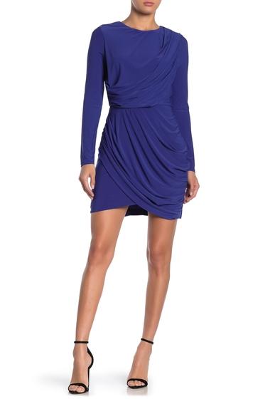 Imbracaminte Femei ASTR the Label Long Sleeve Draped Mini Dress COBALT