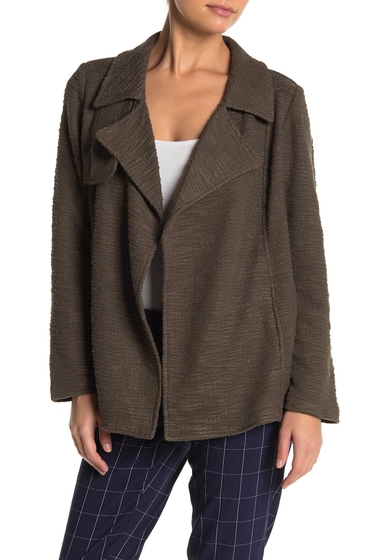Imbracaminte Femei DR2 by Daniel Rainn Drape Front Textured Knit Trench Jacket Petite H798 OLIVE