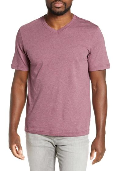 Imbracaminte Barbati Travis Mathew Talk to Me V-Neck T-Shirt HEATHER TA