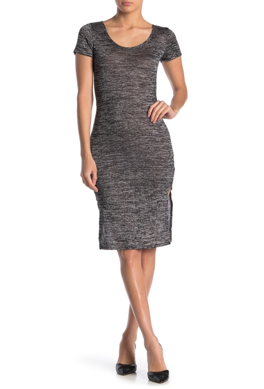 Imbracaminte Femei Velvet Torch Knit Midi Sweater Dress HTR GREY