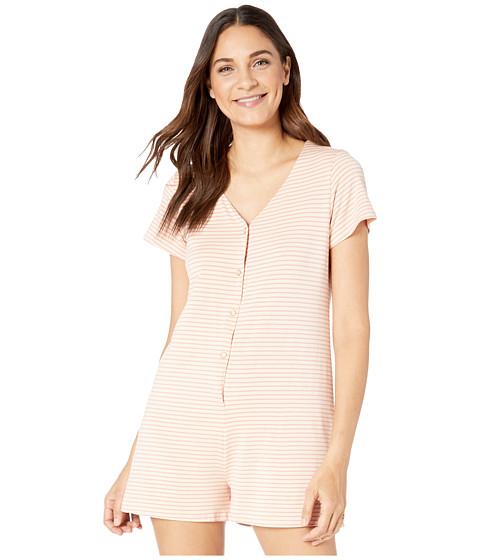 Imbracaminte Femei Roxy Other Things Short Sleeve Romper Ivory Cream Marina Stripes