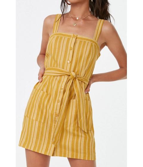 Imbracaminte Femei Forever21 Striped Mini Dress MUSTARDCREAM