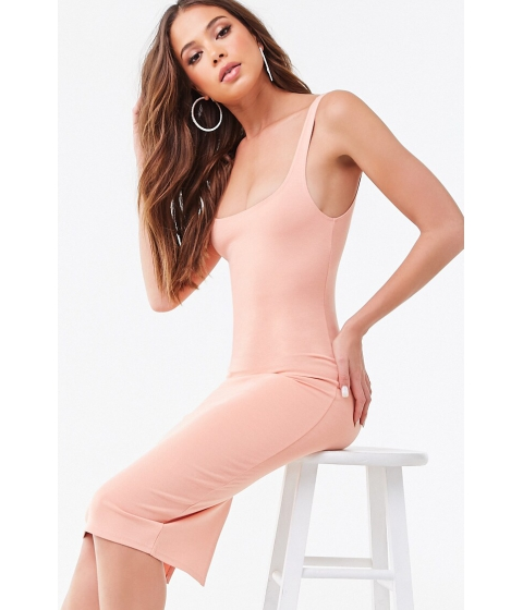 Imbracaminte Femei Forever21 Scoop Bodycon Dress PEACH