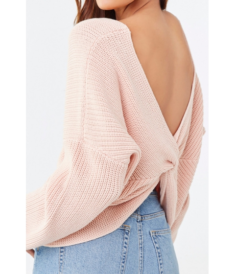 Imbracaminte Femei Forever21 Ribbed Twist-Back Sweater BLUSH