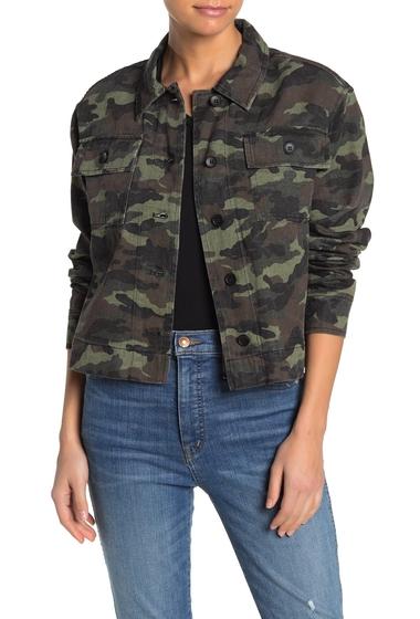 Imbracaminte Femei John Jenn Camo Twill Cropped Jacket FATIGUE