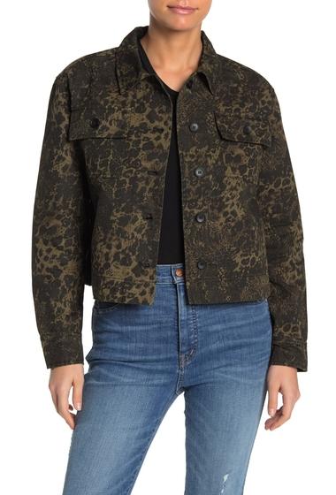 Imbracaminte Femei John Jenn Animal Twill Cropped Jacket BLACK FOREST