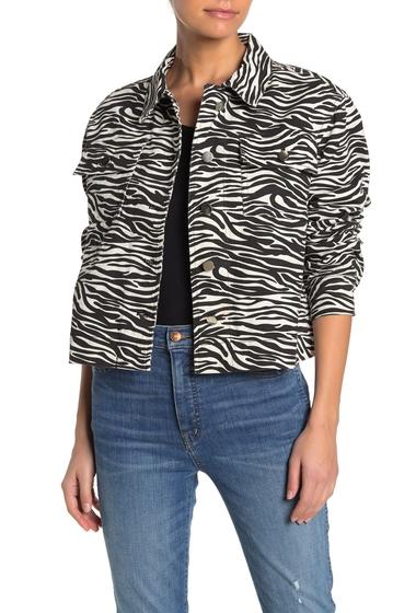 Imbracaminte Femei John Jenn Zebra Twill Cropped Jacket BONE ZEBRA