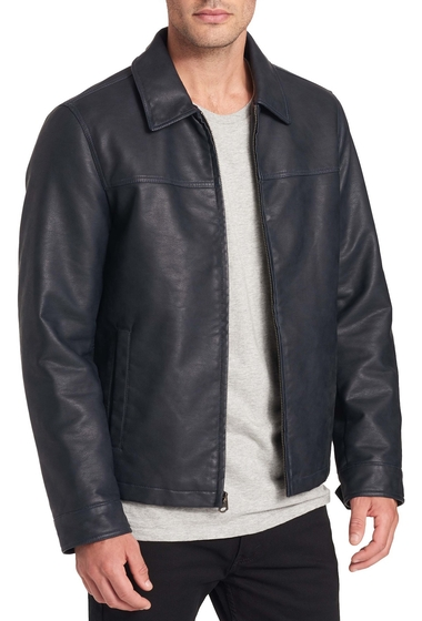 Imbracaminte Barbati Dockers James Faux Leather Open-Bottom Jacket NAVY