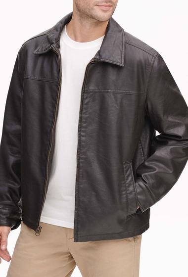 Imbracaminte Barbati Dockers James Faux Leather Open-Bottom Jacket DARK BROWN