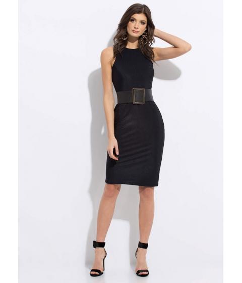 Imbracaminte Femei CheapChic Beautiful Basic Ribbed Midi Dress Black