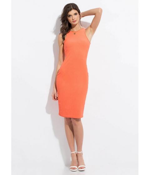 Imbracaminte Femei CheapChic Beautiful Basic Ribbed Midi Dress Coral