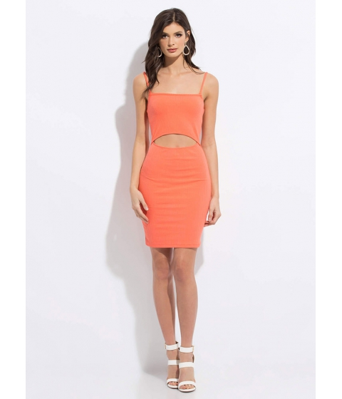 Imbracaminte Femei CheapChic I Want One Two Cut-out Midi Dress Coral