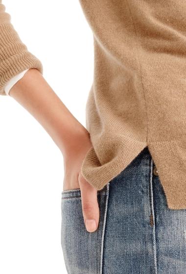Imbracaminte Femei J Crew Crewneck Cashmere Sweater Regular Plus Size HTHR CAMEL