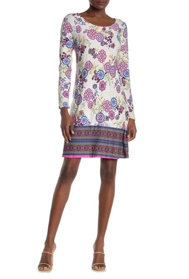 Imbracaminte Femei Loveappella Floral Strappy Back Swing Dress PURPLEBLUE