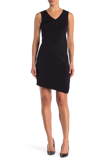 Imbracaminte Femei WOLFORD V-Neck Asymmetric Dress BLACK